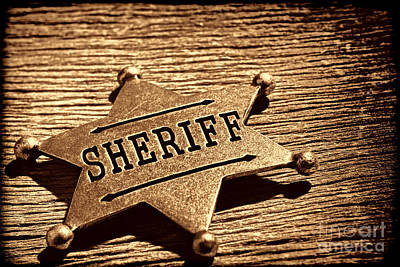 Photograph - Sheriff Badge by American West Legend By Olivier Le Queinec