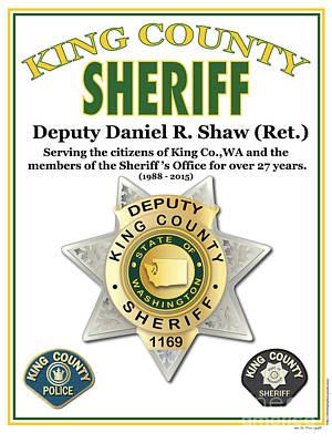 Digital Art - Sheriff by Kenneth De Tore