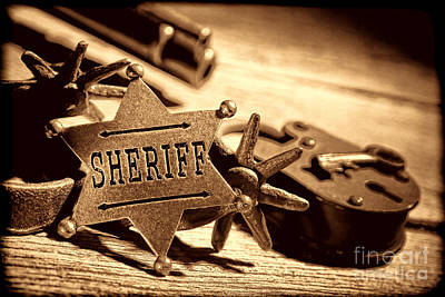 Photograph - Sheriff Tools by American West Legend By Olivier Le Queinec