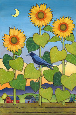 Sunflower Painting - Sheris Sunflowers by Stacey Neumiller