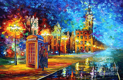 Fandom Painting - Sherlock Holmes And Big Ben by three Second