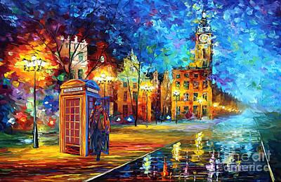 Fandom Painting - Detective And Big Ben by Lugu Poerawidjaja