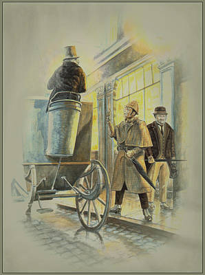 Gaslight Painting - Sherlock Holmes At The Northumberland by Tony Hough