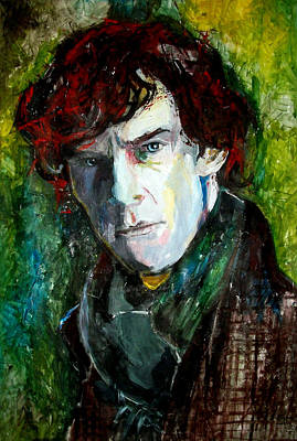 Crime Drama Movie Painting - Sherlock Holmes - Benedict Cumberbatch by Marcelo Neira