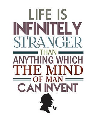 Mans Best Friend Mixed Media - Sherlock Holmes Quotes by Studio Grafiikka