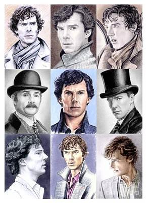Drawing - Sherlock Montage by Wu Wei