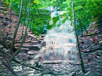 Landscape Painting - Sherman Falls by David Bigelow
