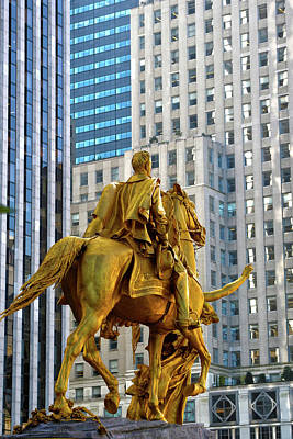 Grand Army Plaza Photograph - Sherman Memorial by Mitch Cat