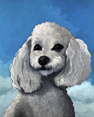 Painting - Sherman - Poodle Pet Portrait by Linda Apple
