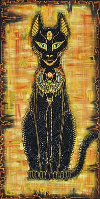 Painting - Shero Bastet Goddess by Olesea Arts