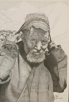 Sherpa. Art Print by Jan  Spangler