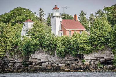 Nikki Vig Royalty-Free and Rights-Managed Images - Sherwood Point Lighthouse by Nikki Vig