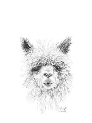 Animals Drawings - Sheryl by K Llamas