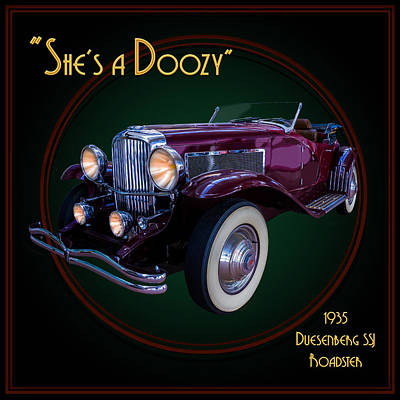 Photograph - She's A Doozy - 1935 Duesenberg Ssj Roadster by TL Mair
