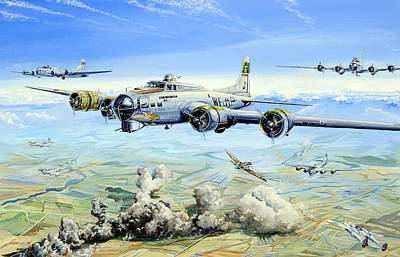 B-17 Wall Art - Painting - She's A Honey 2 by Charles Taylor