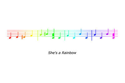 Digital Art - She's A Rainbow by Richard Reeve