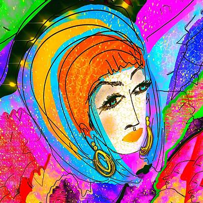 Digital Art - She's Got What   Personality by Renee Marie Martinez