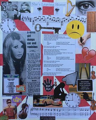Mixed Media - She's Leaving Home by Jonathan Morrill