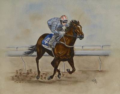 She's Taking The Lead ... Horserace Art Print