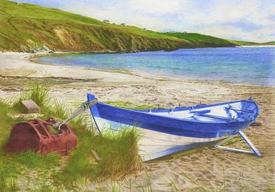 Shetland Ness Yoal 'vada' Art Print