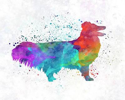 Shetland Seepdog In Watercolor Art Print by Pablo Romero