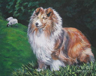 Shetland Sheepdog Art Print by Lee Ann Shepard