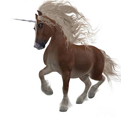 Shetland Pony Painting - Shetland Unicorn by Corey Ford