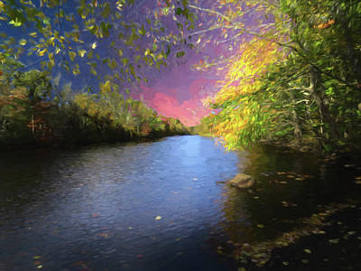 Digital Art - Shetucket River Ct. by Rusty R Smith