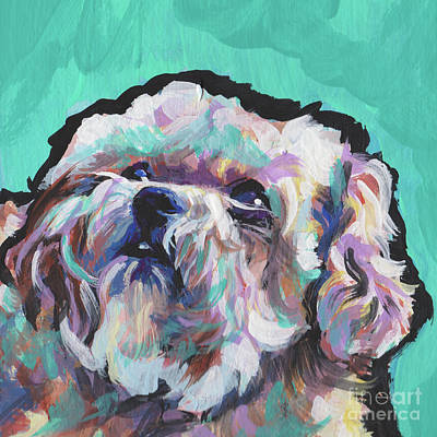 Childrens Art Painting - Shi Poo Shi by Lea