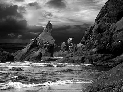 Digital Art - Shi Shi Beach 2 by Michaelalonzo Kominsky
