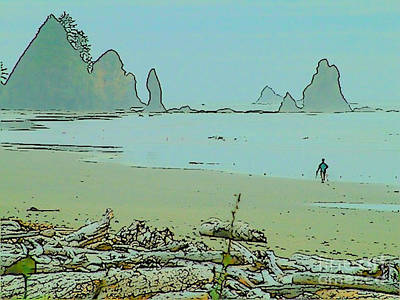 Shi Shi Beach And Patrick Art Print