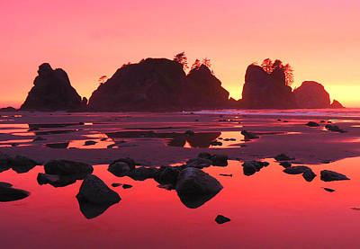 Olympic National Park Photograph - Shi Shi Sunset by Ryan Scholl
