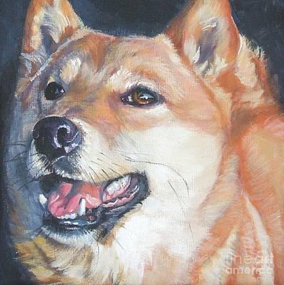 Shiba Inu Painting - Shiba Inu by Lee Ann Shepard