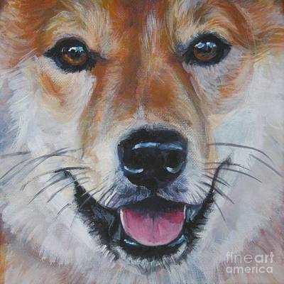 Shiba Inu Painting - Shiba Inu Smile by Lee Ann Shepard