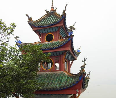 Photograph - Shibao Pagoda Top by Betty-Anne McDonald