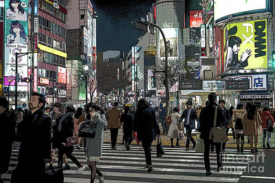 Photograph - Shibuya Crossing, Tokyo Japan Poster by Perry Rodriguez