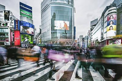 Photograph - Shibuya Flow by Yancho Sabev