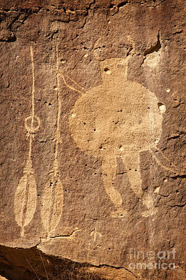 Photograph - Shield Figure With Weapons Petroglyph by John Stephens