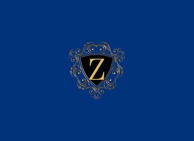 Digital Art - Shield Initial Z by Carlos Diaz