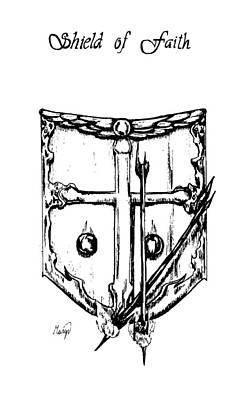 Shield Of Faith Print by Maryn Crawford