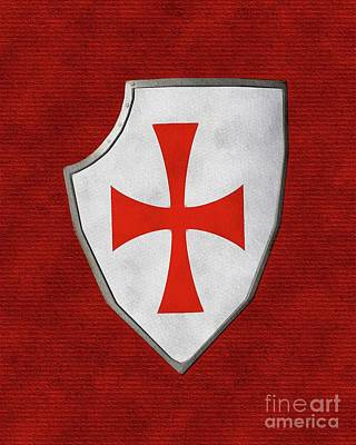 Abstract Landscape Royalty-Free and Rights-Managed Images - Shield of the Templars by Pierre Blanchard