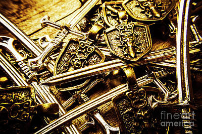 Shield Photograph - Shields And Swords Weapons by Jorgo Photography - Wall Art Gallery
