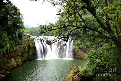 Shifen Waterfall  Art Print by Hanza Turgul