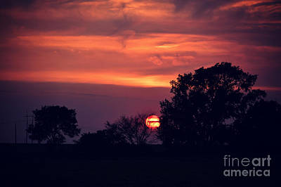 Photograph - Shifting Clouds At Sunset by Kathy M Krause