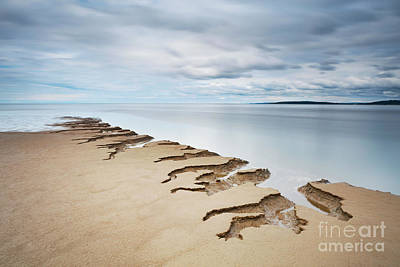 Surreal Landscape Photograph - Shifting Sands Silverdale by Tony Higginson