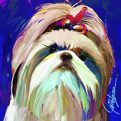 Dogs Painting - Shih Tzu 1 by Jackie Jacobson
