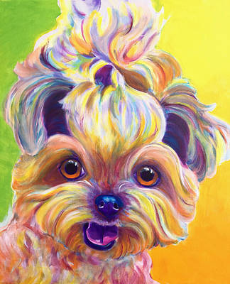 Dawgart Painting - Shih Tzu - Bloom by Alicia VanNoy Call