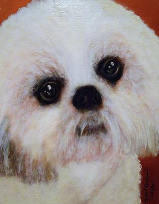Painting - Shih-tzu - Caddy Mo by Laura  Grisham