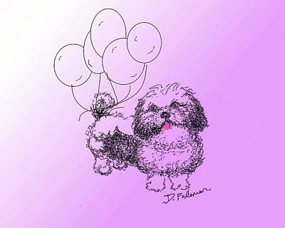 Drawing - Shih Tzu by Denise Fulmer