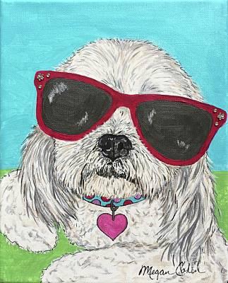Best Friend Painting - Shih Tzu Diva by Megan Cohen